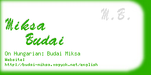 miksa budai business card